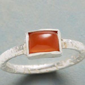 NWT Sundance ring with carnelian cabochon stone